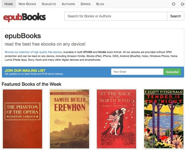 epubBooks Screenshot